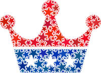 Vector Crown Collage of Stars in American Democratic Colors