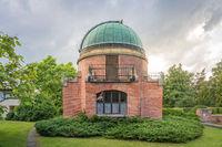 Old Historic building of observatory within Ondrejov astronomy institute. Deep space telescope observatory. Ondrejov, Czech republic.