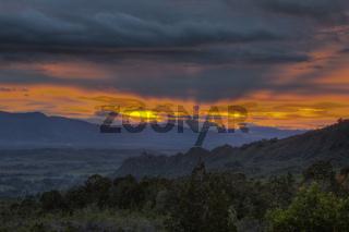 Sonnenuntergang im Baliem Tal