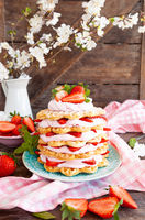 Waffeln mit Erdbeersahne