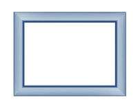 Blue wooden frame for picture or photo