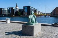 Mermaid Sculpture in Copenhagen, Denmark