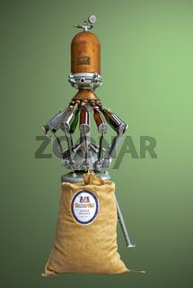 Historische Bier-Abfuellanlage