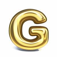 Golden font Letter G 3D