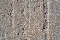 Grooves in a wall of concrete on a structure made of concrete