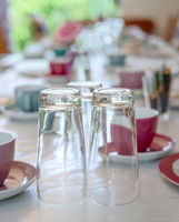 Table setting for a birthday party