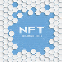 White Hexagon Structure Network NFT Cover Cover