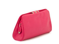 Women's elegant pink handbag – clutch