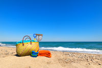 Beach bag for summer vacation