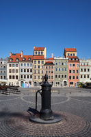 Old Town Main Square in City of Warsaw