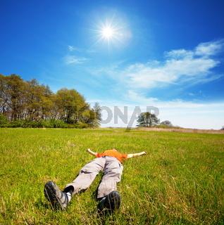 Resting man