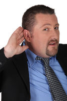 businessman listening carefully