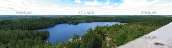 lake Kleven from the rock plateau Aboda Klint