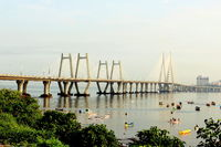 Bandra Worli sea link, also known as Rajiv Gandhi sea link, Mumbai, Maharashtra, India