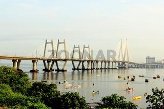 Bandra Worli sea link, also known as Rajiv Gandhi sea link, Mumbai, Maharashtra, India
