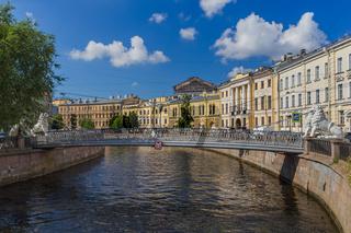Lions bridge on Griboyedov channel