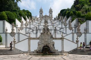 Bom Jesus Sanctuary in Braga, Portugal
