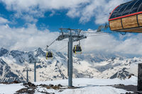 Cable car over ski valley