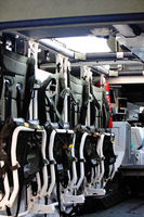 Inside an Armored personnel carrier car