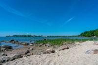 A beautiful summer day at Wreechen beach on Ruegen island