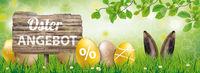 Osterangebot Easter Grass Beech Wood Sign Eggs