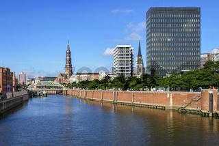 Zollkanal in der Speicherstadt, Hamburg