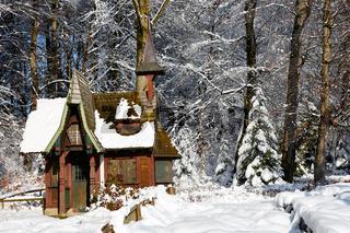 Deutschland, Baden-Württemberg, Bodensee, Überlingen am Bodensee, Winterlandschaft, Stadtpark, Hexen