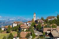 View over Deutschnofen, Nova Ponente, Dolomites, South Tyrol
