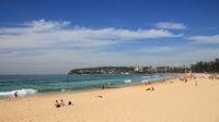 Golden sand beach in Manly, Australia.