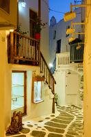 Alley in Mykonos town