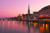 The river Limmat in Zurich, Switzerland