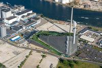 Aerial view of Amager Bakke in Copenhagen, Denmark