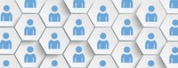 White Hexagon Humans Structure Background Header