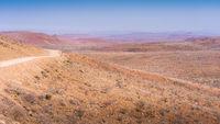 Damaraland. Gravel road to Palmwag in Namibia.
