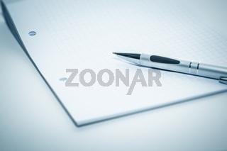notepad and ballpen
