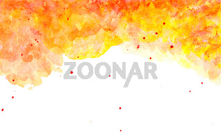 Watercolor Splashes In Red Orange Colors