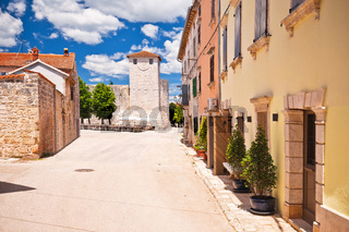 Village of Svetvincenat ancient square and colorful architecture view
