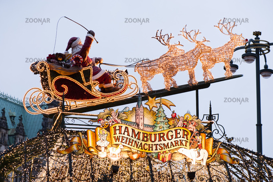 The gate to the Hamburg Christmas Market