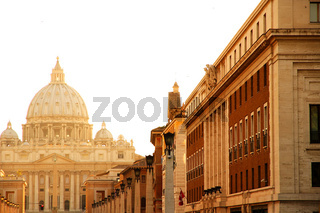 Evening view on the Vatican in Rome