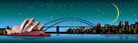 Sydney city starry night