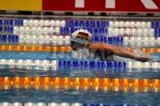 Wettkampfschwimmerin
