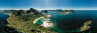 Panorama Beach Lofoten archipelago islands beach