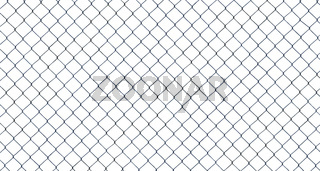 Isolated Chain-Link Fence