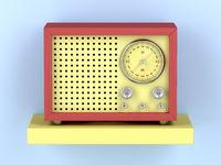 Colorful retro radio