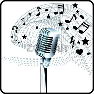 Mikrofon und Noten.eps