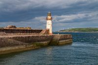 West Pier Lighthouse in Whitehaven, Cumbria, England