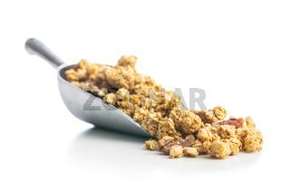 Breakfast cereal. Morning granola.