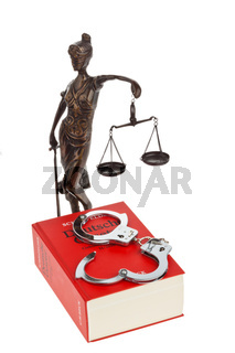 Gesetzbuch mit Gesetzen für Gericht.