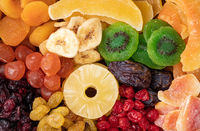Dried fruits background.