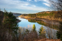 Dhunn water reservoir, Bergisches Land, Germany